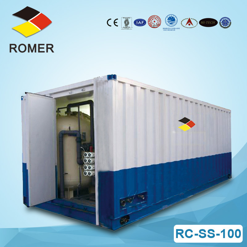 Container water treatment system RC-SS-100 RO desalting machine