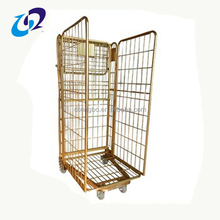 Industrial cargo storage collapsible galvanized warehouse trolley