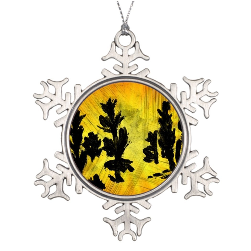 SS OPER Xmas Trees Decorated Painted Trees Snowflake Ornaments Online