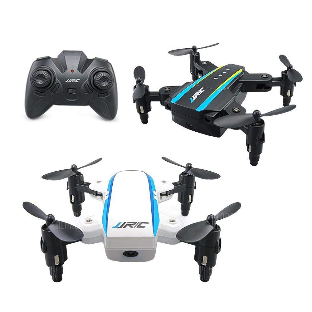Hobbyfly JJRC H345 Mini RC Foldable Quadcopter Drone with Headless Mode One Key Return Home 3D Flip Foldable Arms 2.4GHz 6Axis RTF Remote Control Drones Helicopters, 2 Units Black and White