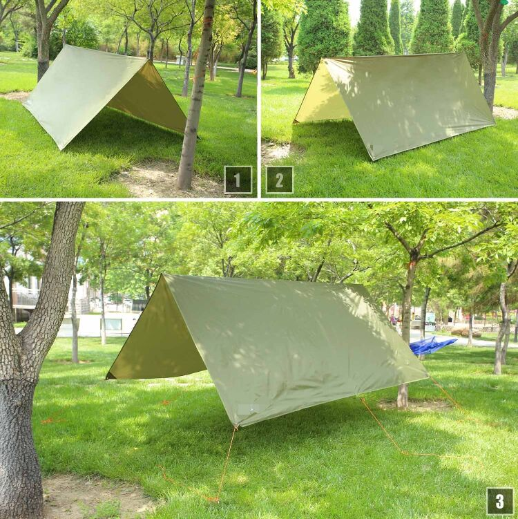 Waterproof Tent Hammock Tarp Outdoor Camping Rainfly Shelter