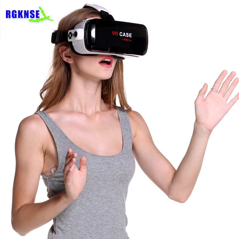 2018 rgknse vr glasses case 6th Smart mini 3.0 3D Virtual Reality headset with gamepad