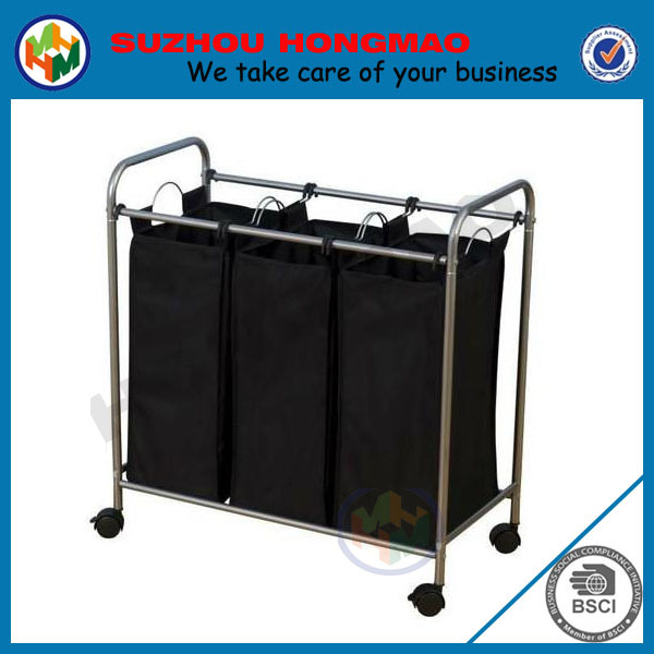 3 compartments basketball laundry hamper with wheels buy laundry hamper basketball laundry - Laundry hamper wheels ...