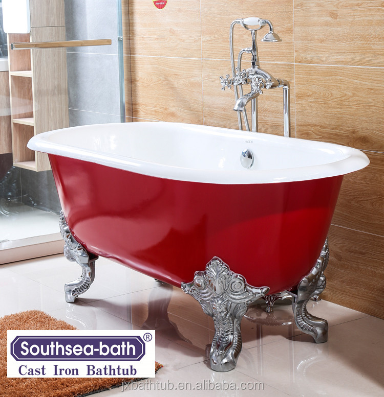 Freestanding Installation Type Message Soaking Baby Bath Cast Iron Enameled Tub Bathtub