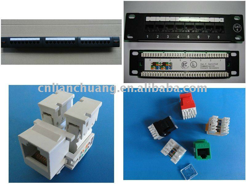 keystone jack and patch panel network accessories