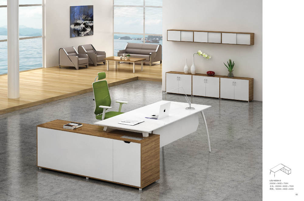 Modern Office Furniture Fashion Small Conference Table Negotiating Table  Training Table Wood Combination Consulting Desk