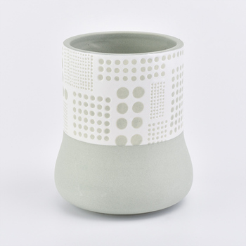 328ml Elegant and fresh ceramic candle holder for home decoration