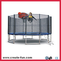 CreateFun 14FT Kids Trampoline with Safety Net and Basketball Hoop