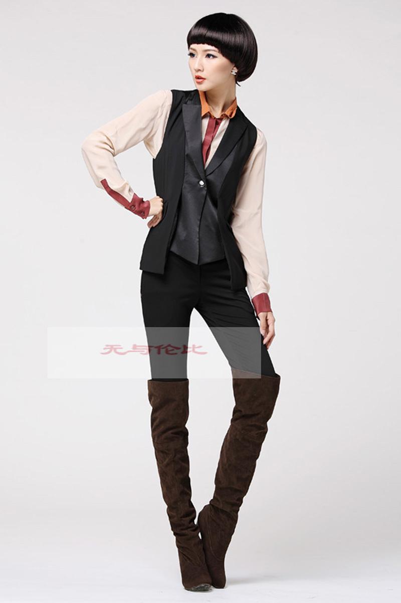 Black Herringbone Suit images
