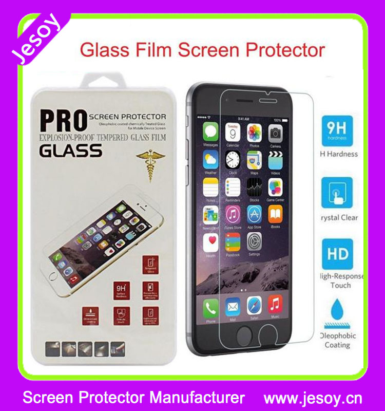 JESOY 9H Hardness Tempered Glass Screen Protector Premium Quality For iphone 4 4s 5 5s 5c 6 6s plus