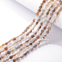 8*10mm for Jewelry Making Botswana Agate irregular drilled loose smooth beads