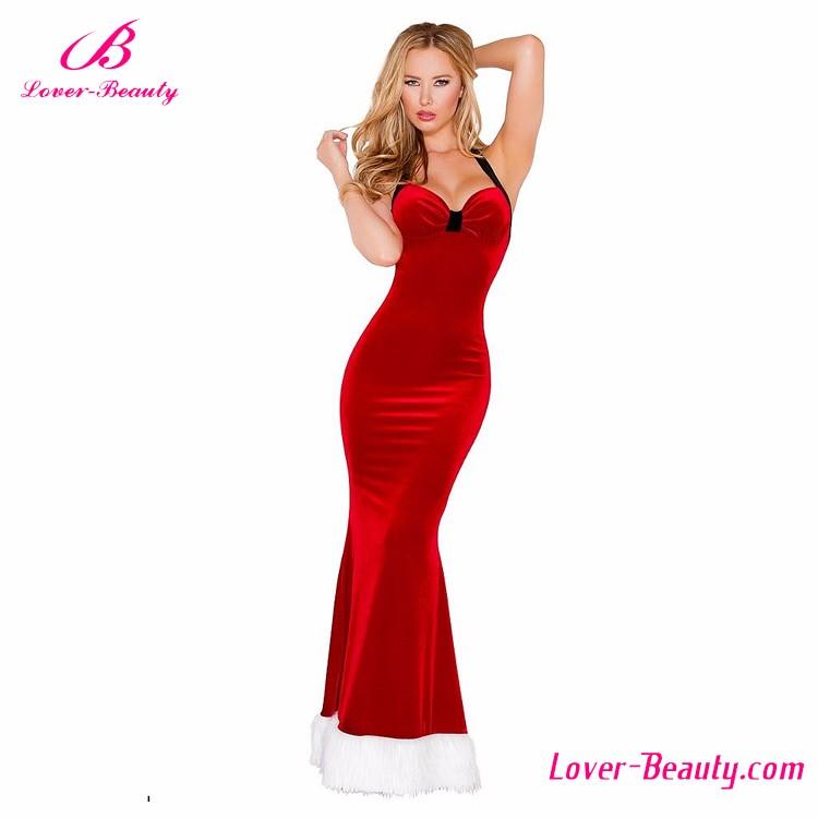 badae461f Precio de fábrica encantadora vestido largo rojo de Navidad para mujeres  vestidos de fiesta 2016