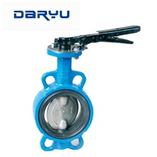 Worm Gear Cast Iron Tuas Dioperasikan <span class=keywords><strong>Wafer</strong></span> Butterfly Valve