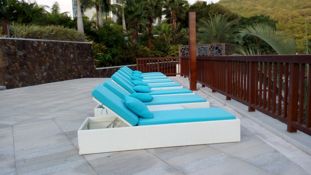 Oem Big Poly Rattan Outdoor Table And Chairs Used Garden