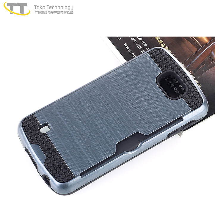 2017 trending product tpu pc 2 in 1 bulk buy card slot cell phone case k4 for lg phone covers