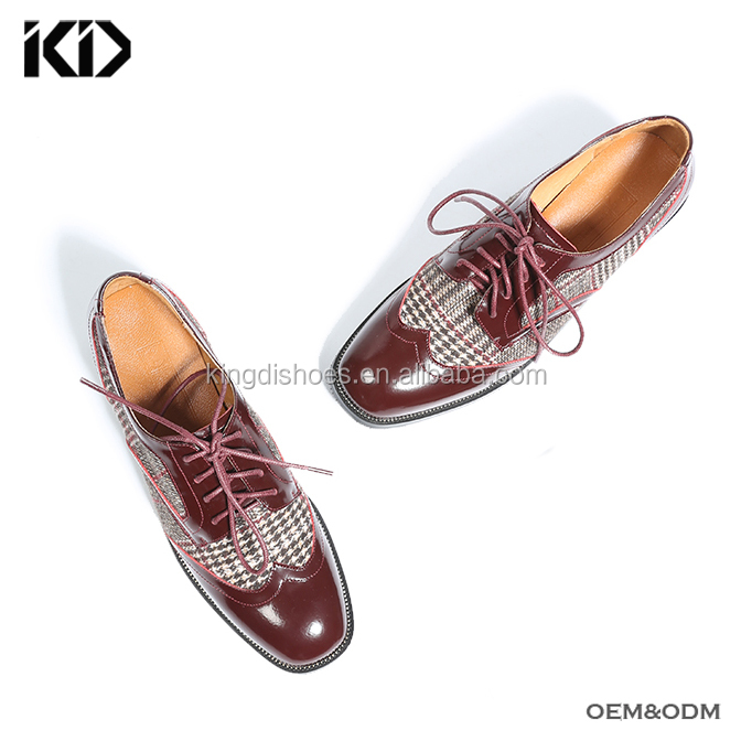 style lace British women flat up brogues handmade shoes wholesale 2018 China fashion wxUtEE