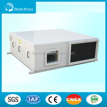 round hvac duct type industrial hrv make-up air unit