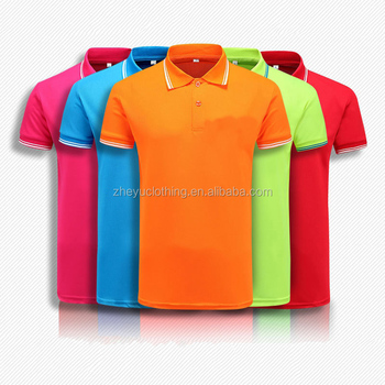 stock polo shirt Sport Wear For Men Quick Dry Polyester Polo T Shirt