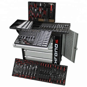 240 pcs Hot Tools for sale With Tool Trolley Cabinet for Tool Cart