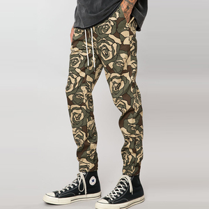 custom your own design rose camo stretch twill jogger pants