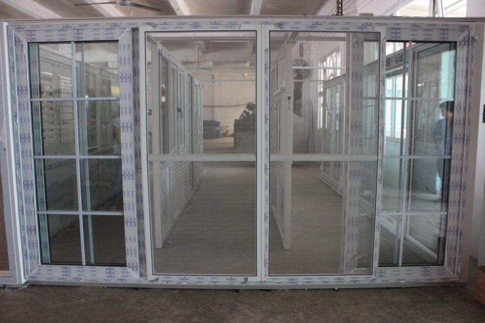 Competetive price modern type pvc tempered glass sliding for Types of sliding glass doors