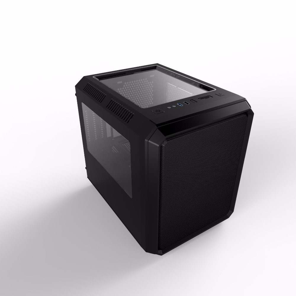 China Factory Cube Gaming PC Case for Micro ATX/Mini ITX Cabinate