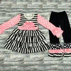 persnickety girls ruffle outfit with pink bow formal outfits children clothing wholesale