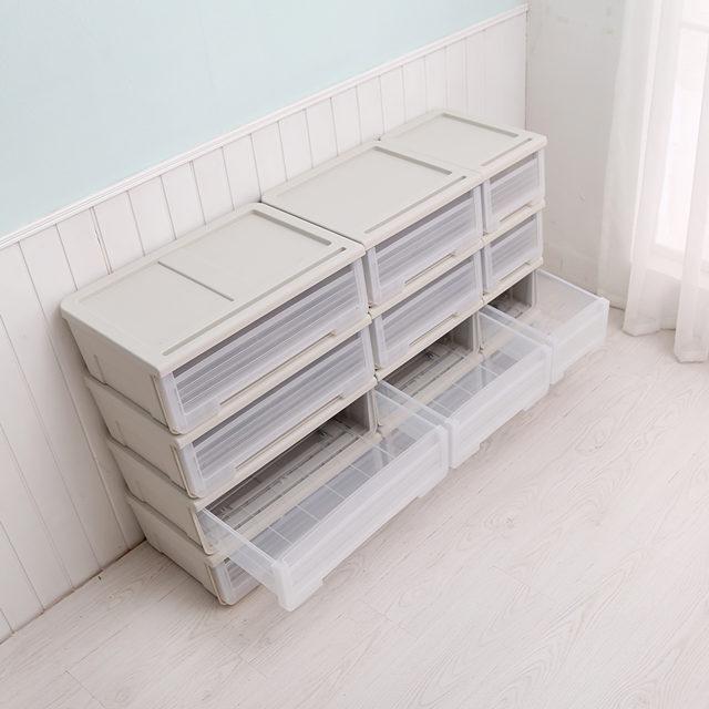 Claramente de almacenamiento de plástico cajón gabinete de almacenamiento
