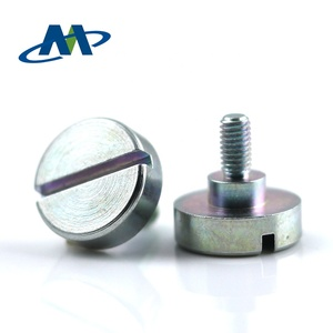 Customized slotted big cheese head machine screw with step