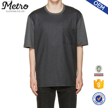 Two Tone Color Grey Men's Short Sleeve Round Neck T shirts