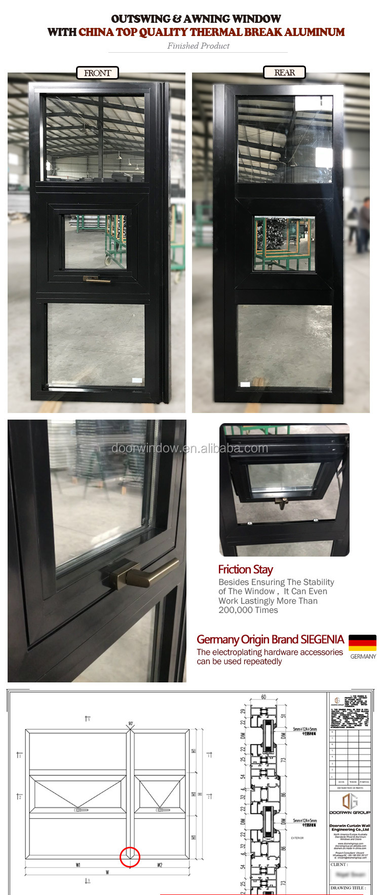 Best selling hot chinese products french casement windows open out window