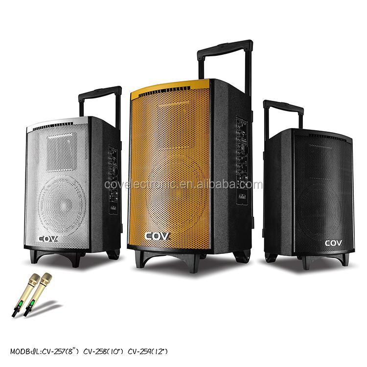 8 Inch Woofer Trolley Active Speaker 12v With Usb Wooden Speaker ...