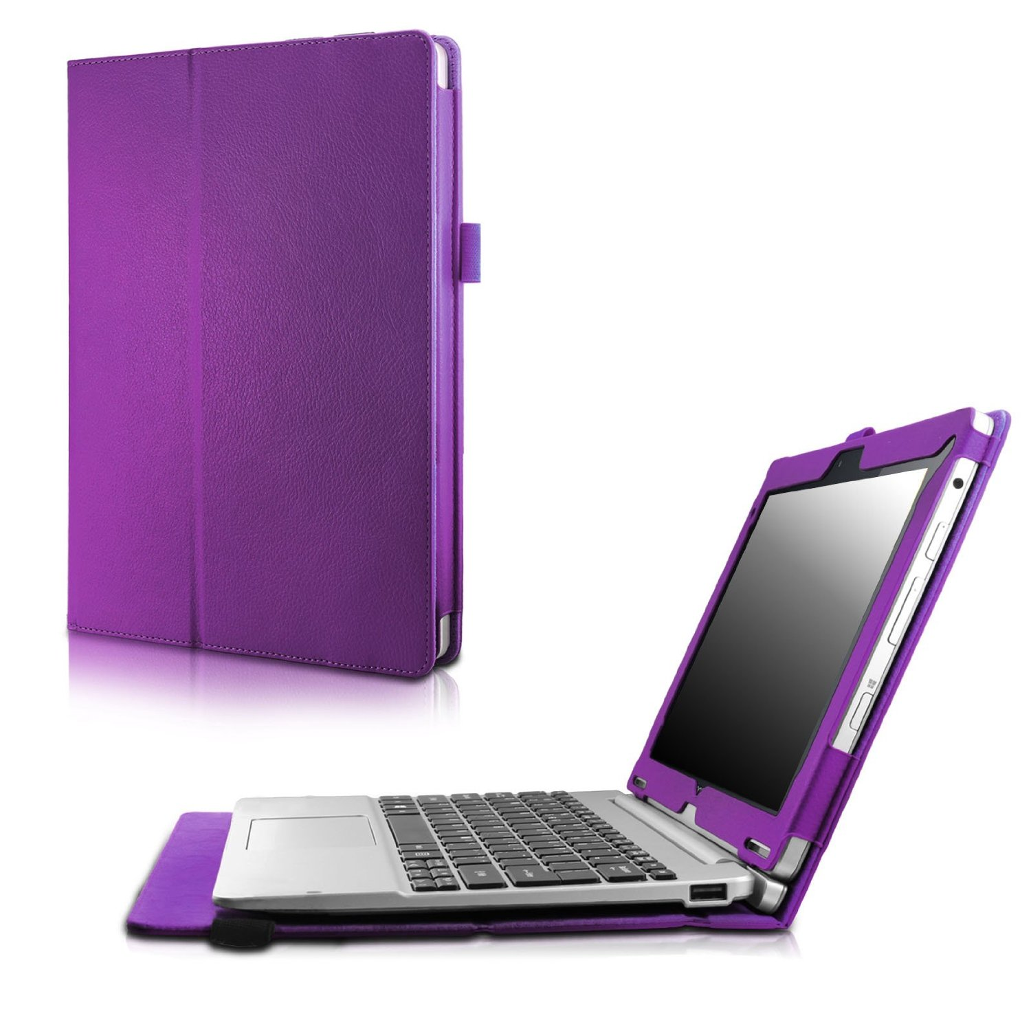 Get Quotations · Infiland Acer Aspire Switch 10 SW5 Case, Premium PU  Leather Keyboard Portfolio Stand Case Cover