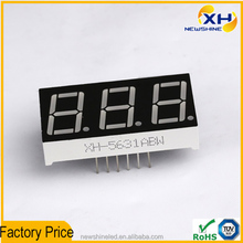 "NEWSHINE High Brightness Full color 0.56"" 3 Digit mini 7 Segment LED Display"