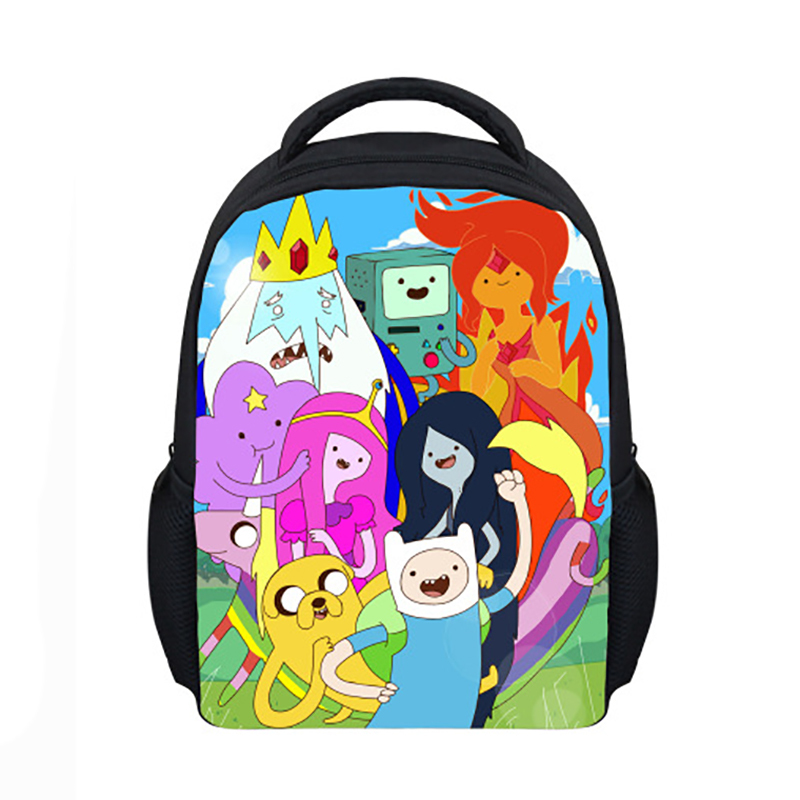 1e7151594d Get Quotations · 2015 Hot Cartoon Adventure Time backpack Finn and Jake  charactor print students and teenagers school bags