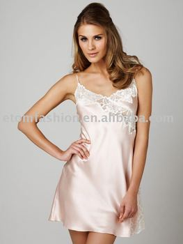 7d3e5b26b8 Sexy Satin Nightgown El410 40 - Buy Nightgown