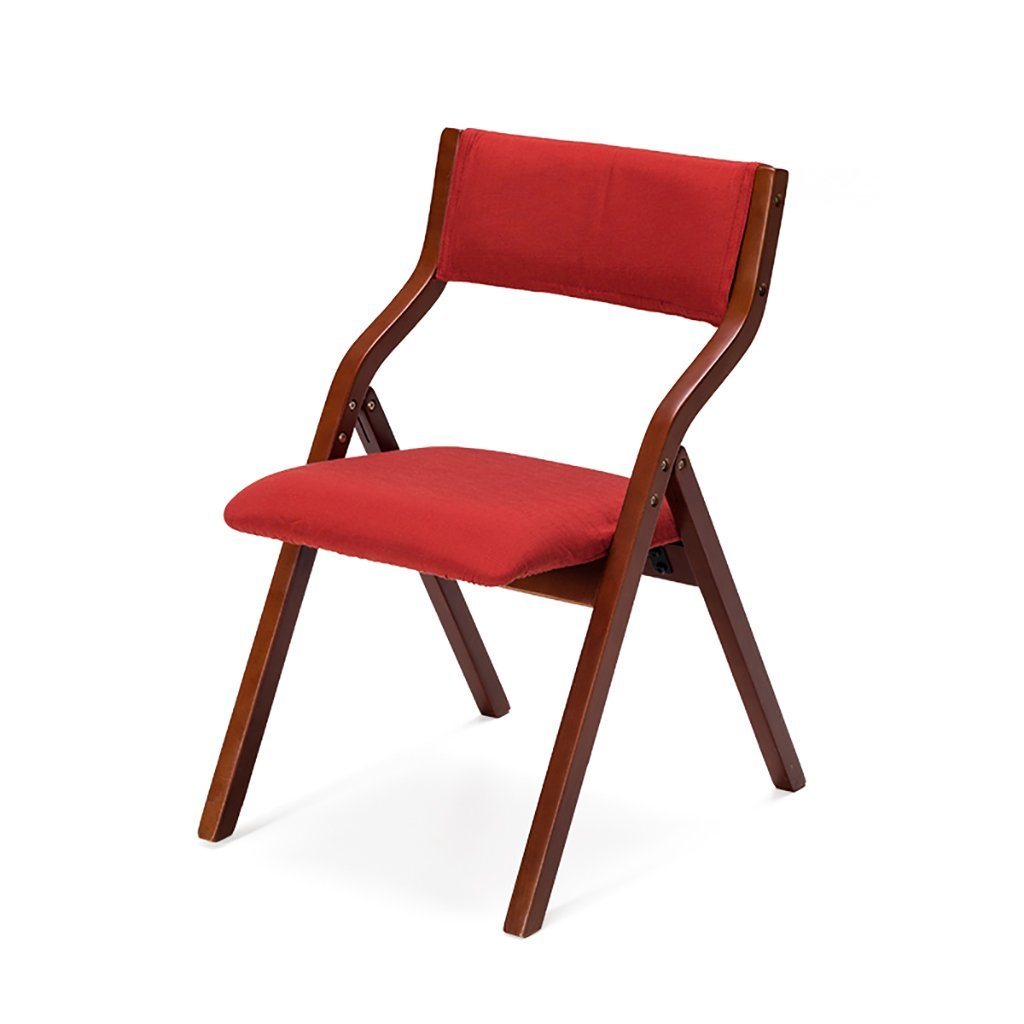 fold up chairs Solid wood home folding chair modern simple cloth folding chair/conference chair Folding Chairs (Color : H)