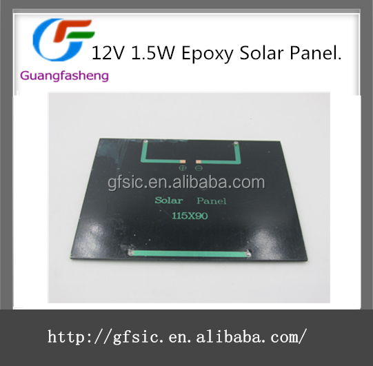 Universal 12V 1.5W Standard Epoxy Solar Panels Mini Solar Cells Polycrystalline Silicon DIY Battery Power Charge Module
