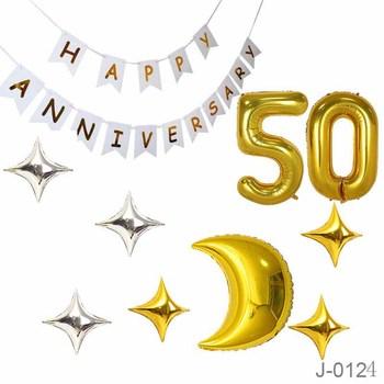 50th Birthday Foil Balloon Wedding Anniversary Party Favors