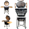 Outdoor kamado charcoal grill, kamado egg oven,black egg charcoal barbeque