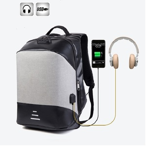 2018 Business Multifunctional Storage anti theft USB Charging waterproof Laptop back pack Anti theft backpack with coded lock