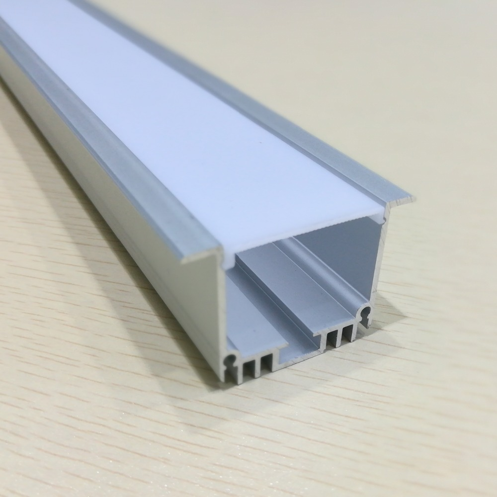 LED channel track aluminum ultra wide 48mm sconce aluminum channel for double 12mm led strip