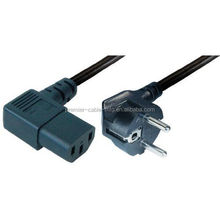 IEC 320 C13 Power Cable Angled Safety Plug and Cold Appliance Coupler 2.0 m