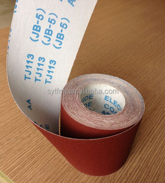 JB-5 flexible abrasive cloth roll jumbo roll manufacture