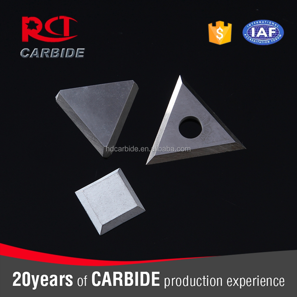 carbide brazed inserts for turning tools