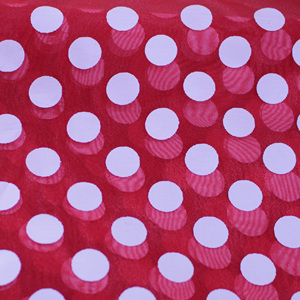 high quality organza print white dots new fabric shiny organza