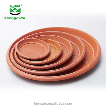 Wholesale large indoor flower plant pot/planter saucers plastic terracotta color tray plates