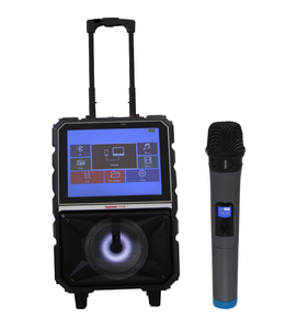 Newest portable trolley speaker with radio screen CD Boombox