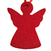 Cheap price passionate red holiday crafts making felt christmas decorations