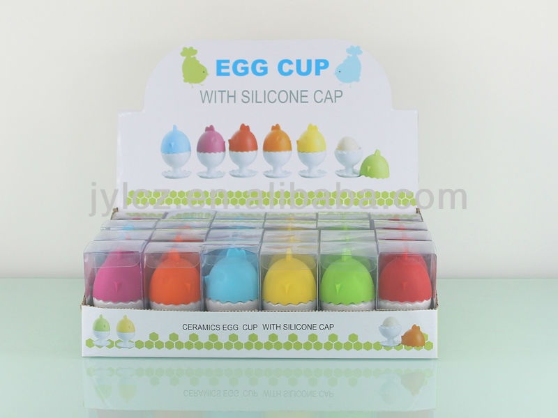 Cheap price white ceramic egg holder for promotion